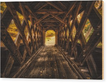 Wood Print featuring the photograph Autumn Walk by Robert Clifford