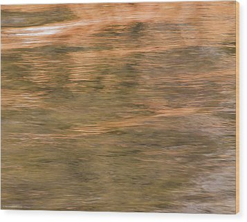 Wood Print featuring the photograph Autumn Water by Britt Runyon