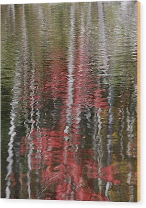 Wood Print featuring the photograph Autumn Water Color by Susan Capuano