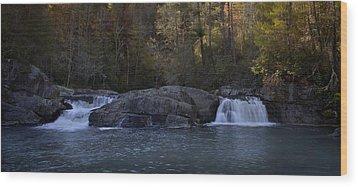 Wood Print featuring the photograph Autumn Waterfall  by Ellen Heaverlo