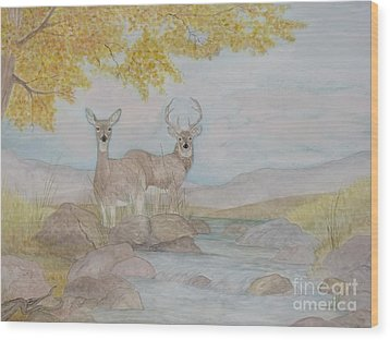 Autumn Watersong Wood Print by Patti Lennox