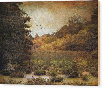 Autumn Wetlands Wood Print by Jessica Jenney