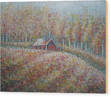 Wood Print featuring the painting Autumn Whisper. by Natalie Holland