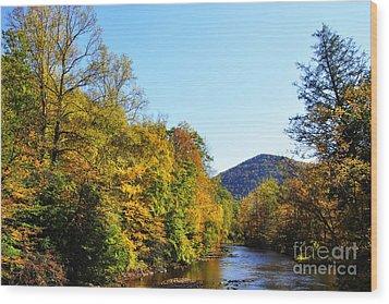 Autumn Williams River Wood Print by Thomas R Fletcher