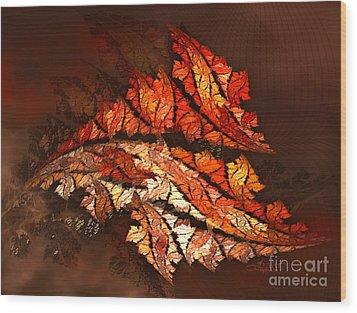 Autumn Wind Wood Print by Jutta Maria Pusl