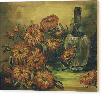 Wood Print featuring the painting Autumn Wine by Rebecca Kimbel