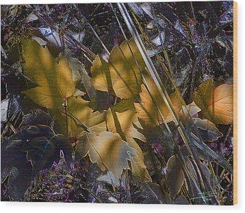 Wood Print featuring the digital art Autumn Yellow by Stuart Turnbull