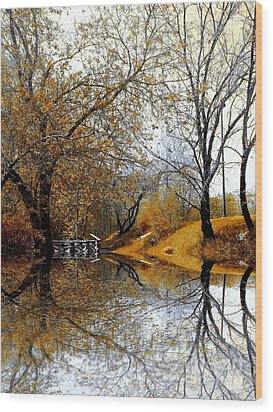 Wood Print featuring the photograph Autumnal by Elfriede Fulda