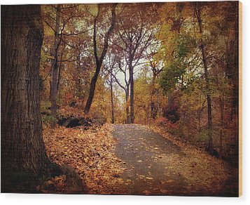 Autumn's Final Act Wood Print by Jessica Jenney