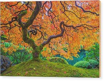 Autumn's Jewel Wood Print