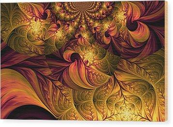Autumns Winds Wood Print
