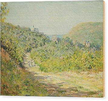 Aux Petites Dalles Wood Print by Claude Monet