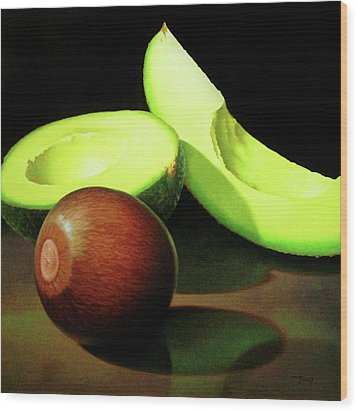Avacado Wood Print