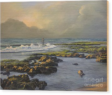 Avalon Point Wood Print by Jeanne Newton Schoborg