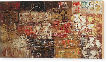 Wood Print featuring the painting Avant Garde by Carmen Guedez