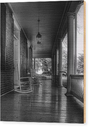 Avenel Front Porch - Bw Wood Print