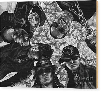 Avenged Sevenfold Wood Print by Kathleen Kelly Thompson