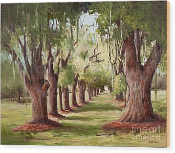 Avenue Of Oaks Iv  Wood Print