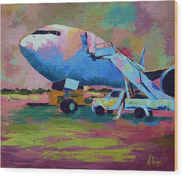 Aviation Ground Handling 1 Wood Print