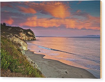 Avila Beach At Sunset Wood Print by Mimi Ditchie Photography
