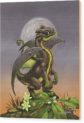 Avocado Dragon Wood Print by Stanley Morrison