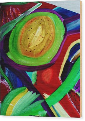 Avocado  Wood Print by HollyWood Creation By linda zanini