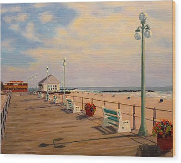 Wood Print featuring the painting Avon Pavilion by Joe Bergholm