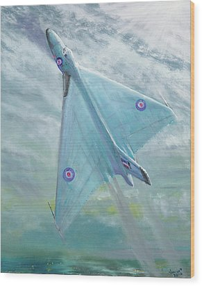 Avro Vulcan B1 Night Flight Wood Print by Vincent Alexander Booth
