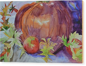 Wood Print featuring the painting Awaiting by Beverley Harper Tinsley