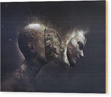 Awaken Wood Print by Cameron Gray