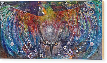 Awaken Wood Print by Leela Payne