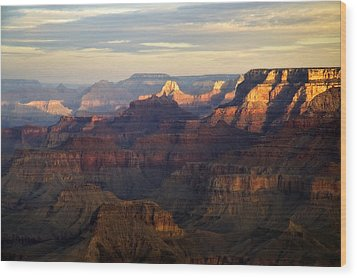Awakening, Grand Canyon From Moran Point, Arizona, Usa Wood Print by Frank Peters