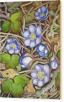 Awakening Of The Wild Anemone  Wood Print by Inese Poga