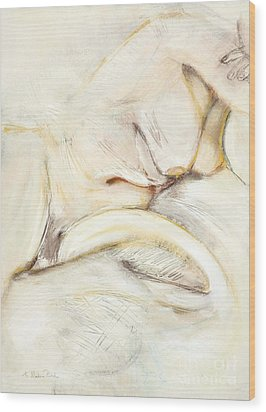 Wood Print featuring the drawing Award Winning Abstract Nude by Kerryn Madsen-Pietsch