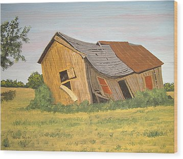 Wood Print featuring the painting Award-winning Original Acrylic Painting - Now I Lay Me Down To Sleep by Norm Starks
