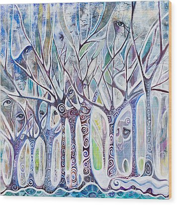 Awareness Wood Print by Leela Payne