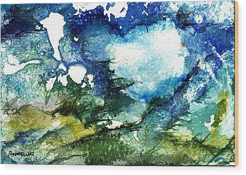 Wood Print featuring the painting Away by Anne Duke