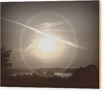 Awe Inspired Morning Wood Print by Cheryl Helms