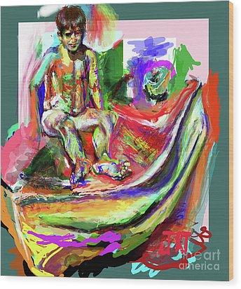 Awkward Boy Awkward Boy Wood Print by James Thomas