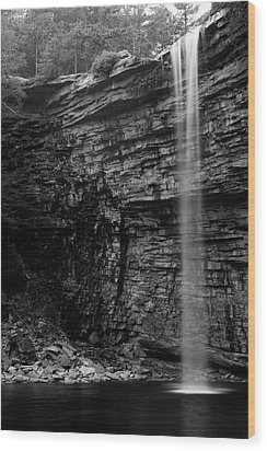 Awosting Falls In Spring #4 Wood Print by Jeff Severson