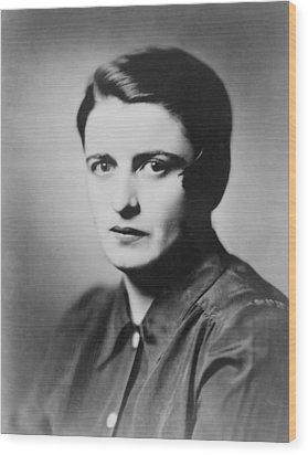 Ayn Rand 1905-1982 Russian Born Wood Print by Everett