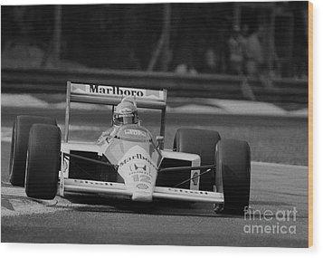Ayrton Senna. 1988 Italian Grand Prix Wood Print