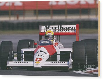 Ayrton Senna. 1988 Mexican Grand Prix Wood Print