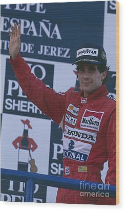 Ayrton Senna. 1989 Spanish Grand Prix Winner Wood Print