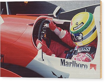Ayrton Senna. 1993 Spanish Grand Prix Wood Print
