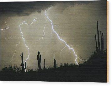 Az Desert Storm Wood Print by James BO  Insogna