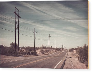 Wood Print featuring the photograph Az Highway by Joseph Westrupp