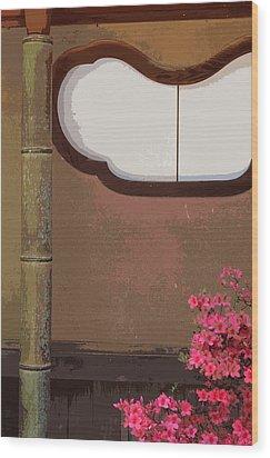 Azalea At Shisendo Wood Print by Cinnabar and Saffron