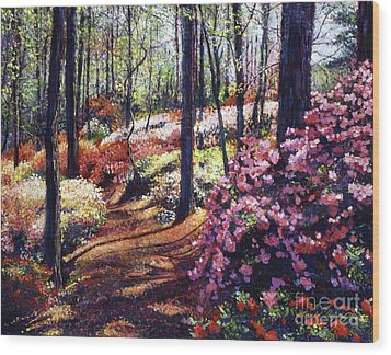 Azalea Forest Wood Print by David Lloyd Glover