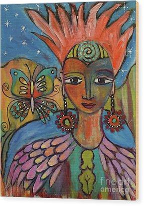 Aztec Princess Wood Print